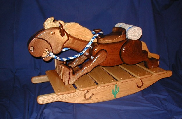 low profile rocking horse from the floor to the saddle is about 16 ...